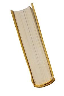 紙の本の側面図は、白い背景で隔離されています。高品質の写真