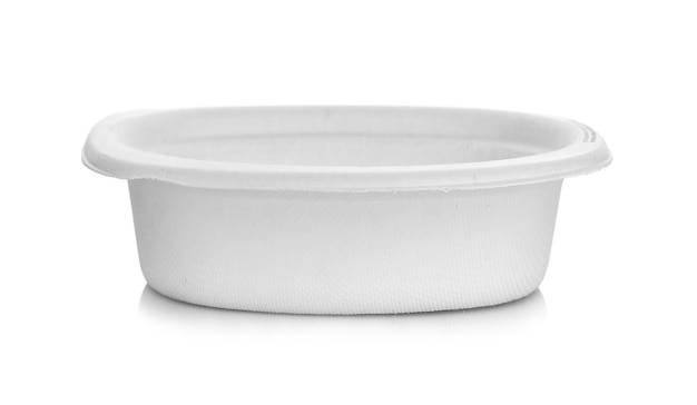 Paper bowl  isolated on white background