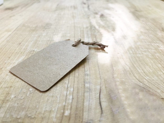 Paper of brown on wooden table