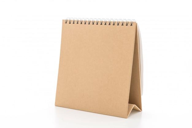 Paper calendar on white