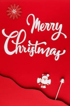 Natale di carta con stella polare e babbo natale