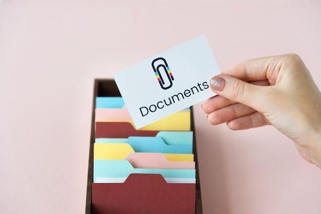 Graffetta grafica per allegati di file di posta elettronica