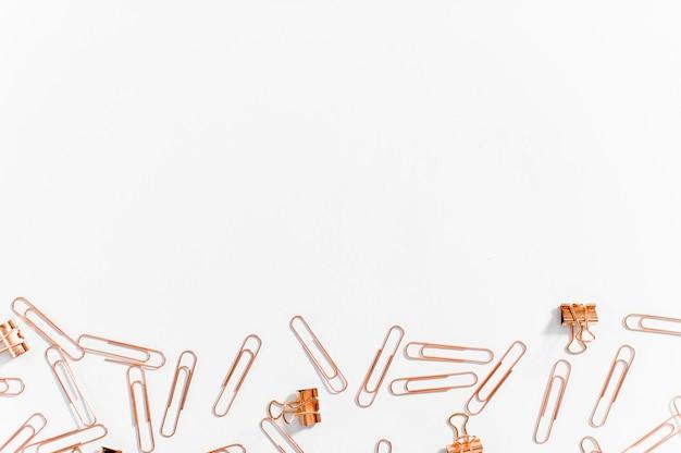 Paper clips copper color