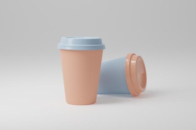 Paper coffee cup 3d render