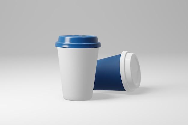 Бумажная кофейная чашка 3d представляет