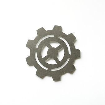 Paper craft art of cog icon