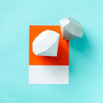 Paper craft art of the diamond shape