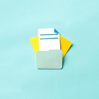 문서 폴더의 종이 공예 예술