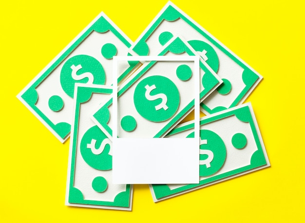 Бумага поделки искусство долларов сша