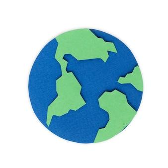 Бумажное ремесло дизайн значка земного шара