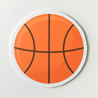 Paper craft of a basket ball