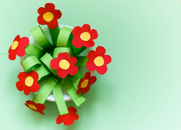 Paper creativity flowers. gift for mother day.