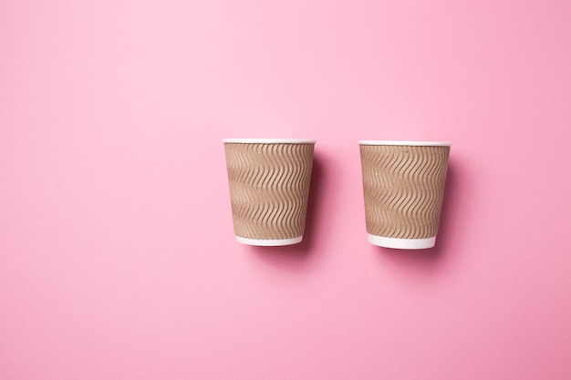 Paper cup for hot coffee or tea