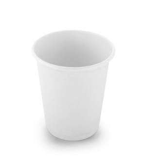 白い背景で隔離の紙コップ