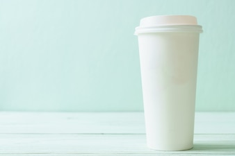 Paper cup of takeaway coffee