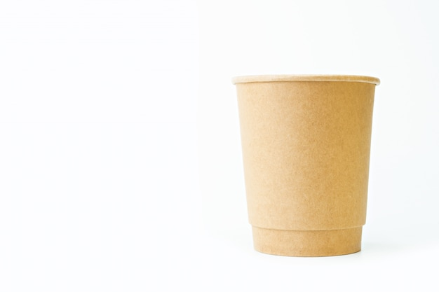 Paper cup with copy space