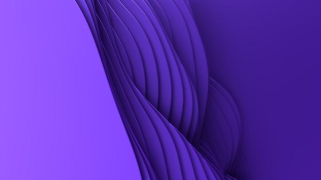 종이 잘라 추상적 인 배경. 3d 깨끗한 보라색 조각 예술. 종이 공예 다채로운 파도. 비즈니스 프레젠테이션을위한 최소한의 현대적인 디자인.