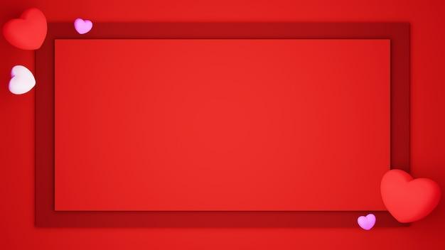 幸せな女性、お父さんのお母さん、甘い心、バナーまたはパンフレットの誕生日の挨拶ギフトカードのデザインの赤い背景のお祝いのコンセプトに設定された紙カットの背景