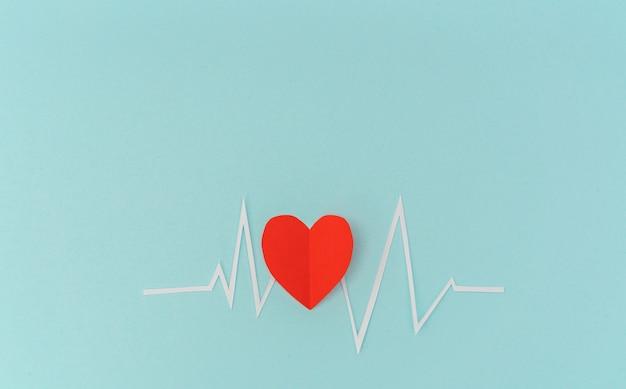 발렌타인 데이 심장 리듬의 제품은 종이 잘라.