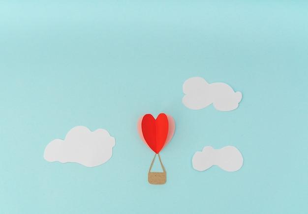 Бумага крой воздушных шарах сердце для celebrat день святого валентина