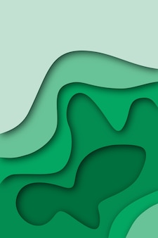 Paper cut out background in green colors