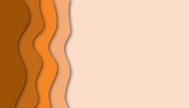 Paper cut out background in orange colors