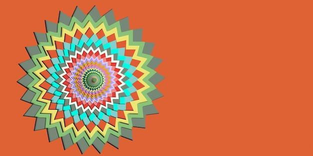 Paper cut style abstract colorful background 3d illustration