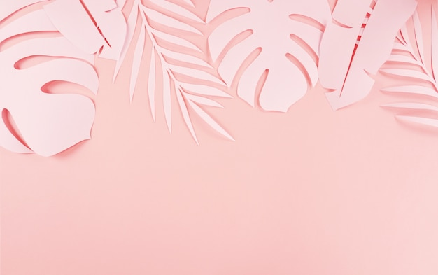 Paper cutting palm leaves