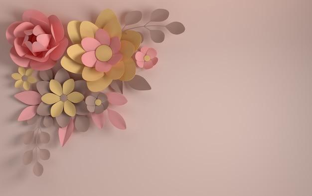 紙のエレガントな花