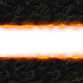 Paper on fire frame background