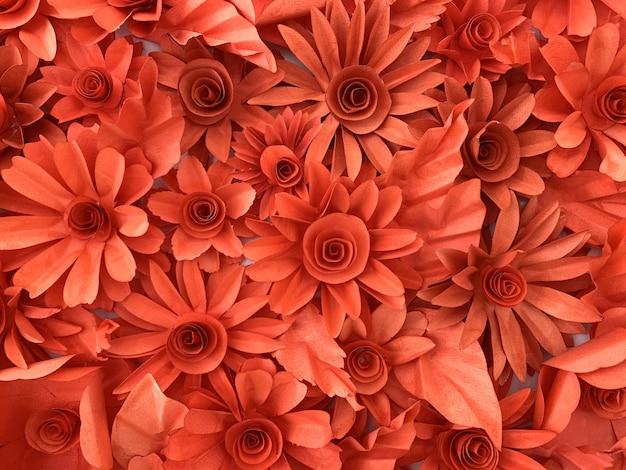 壁の装飾に使用される紙の花の背景