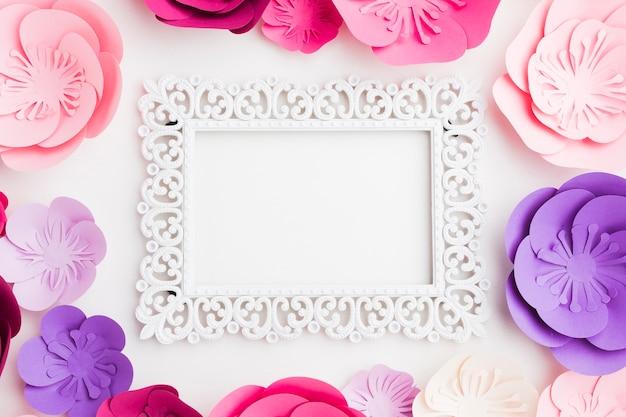 Paper flowers frame