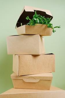 Бумажный пищевой ящик из экологически чистого одноразового материала