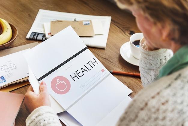 Paper healthcare wellness senior adult concept