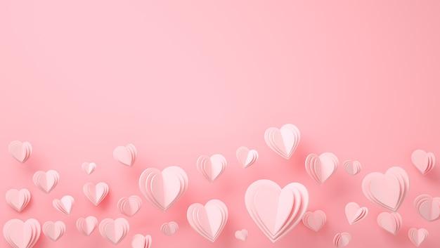 종이 하트 발렌타인 데이-로맨틱 카드