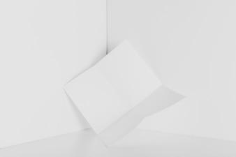 Paper in corner of room