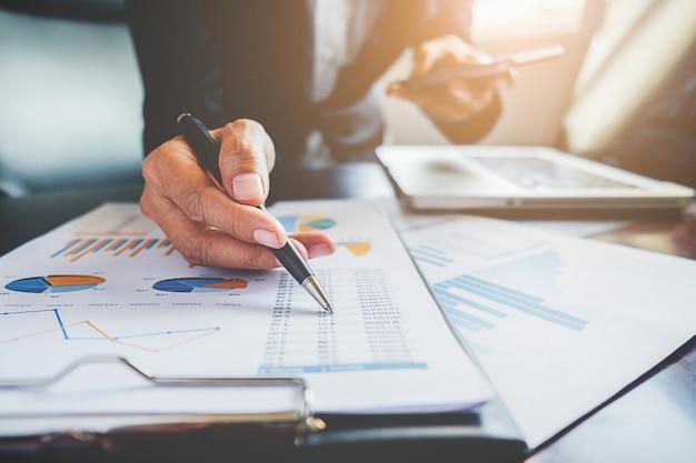 Paper job office teamwork business analyst