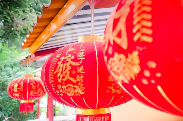 Paper lanterns and chinese new year