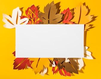 Paper leaflets under square