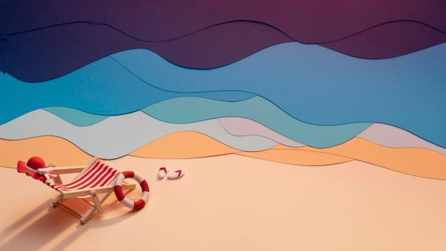 纸制夏天海滩安排