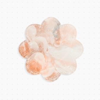 Nota di carta con forma di fiore di sfondo astratto pastello