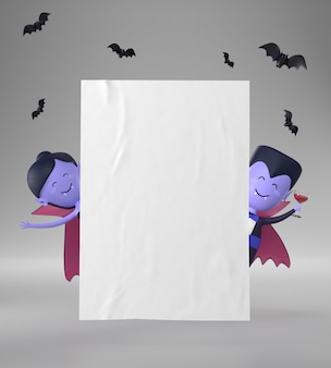 Pagina di carta con decorazioni di halloween