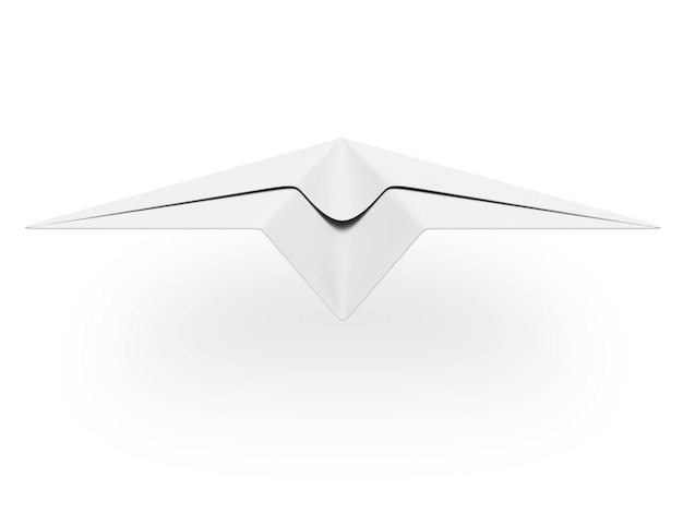 Paper plane isolated on white
