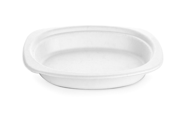 Paper plate isolated on white background