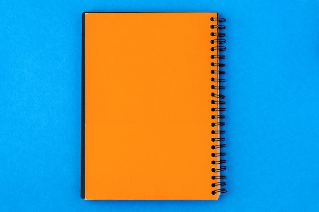 Paper for recording in the center on a blue background
