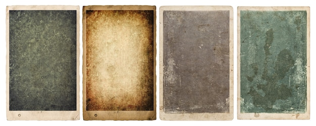 Paper sheets and photo frames with edges isolated