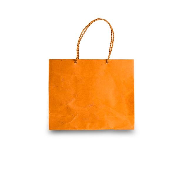 分離されたロープハンドル付きの紙の買い物袋