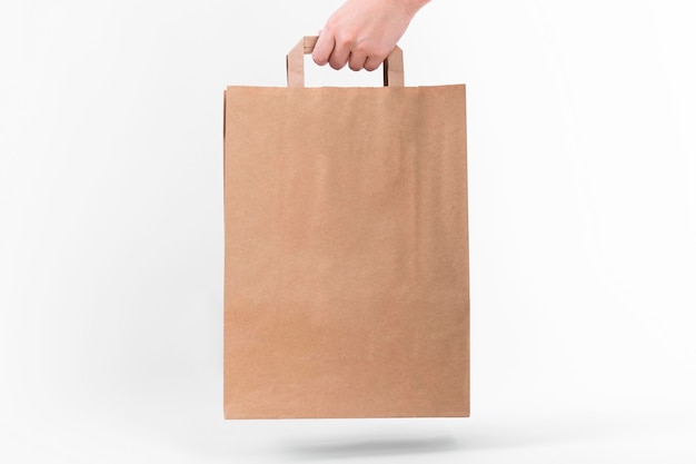Paper shopping bag with shadow