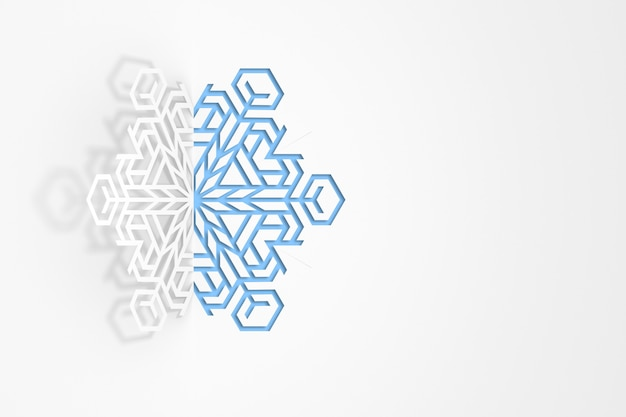 Paper snowflake 3d illustration