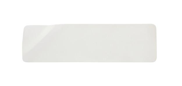 白い背景で隔離の紙のステッカーラベル